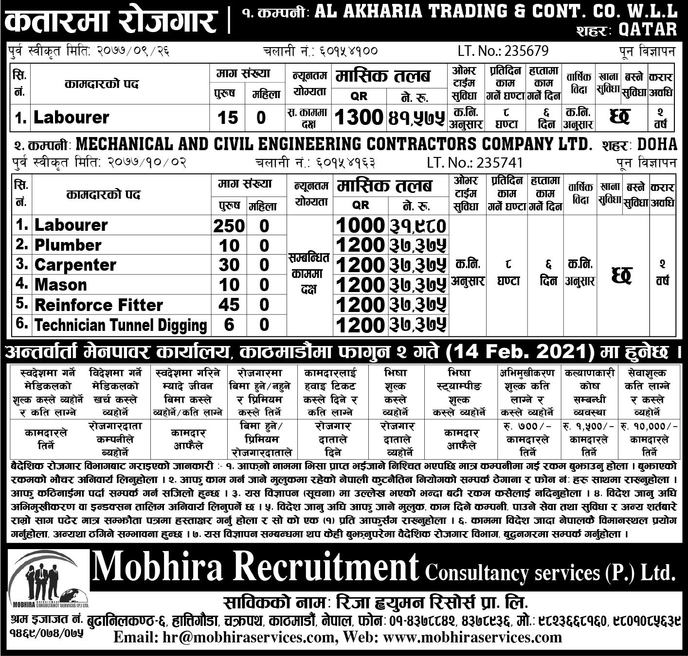 job in qatar