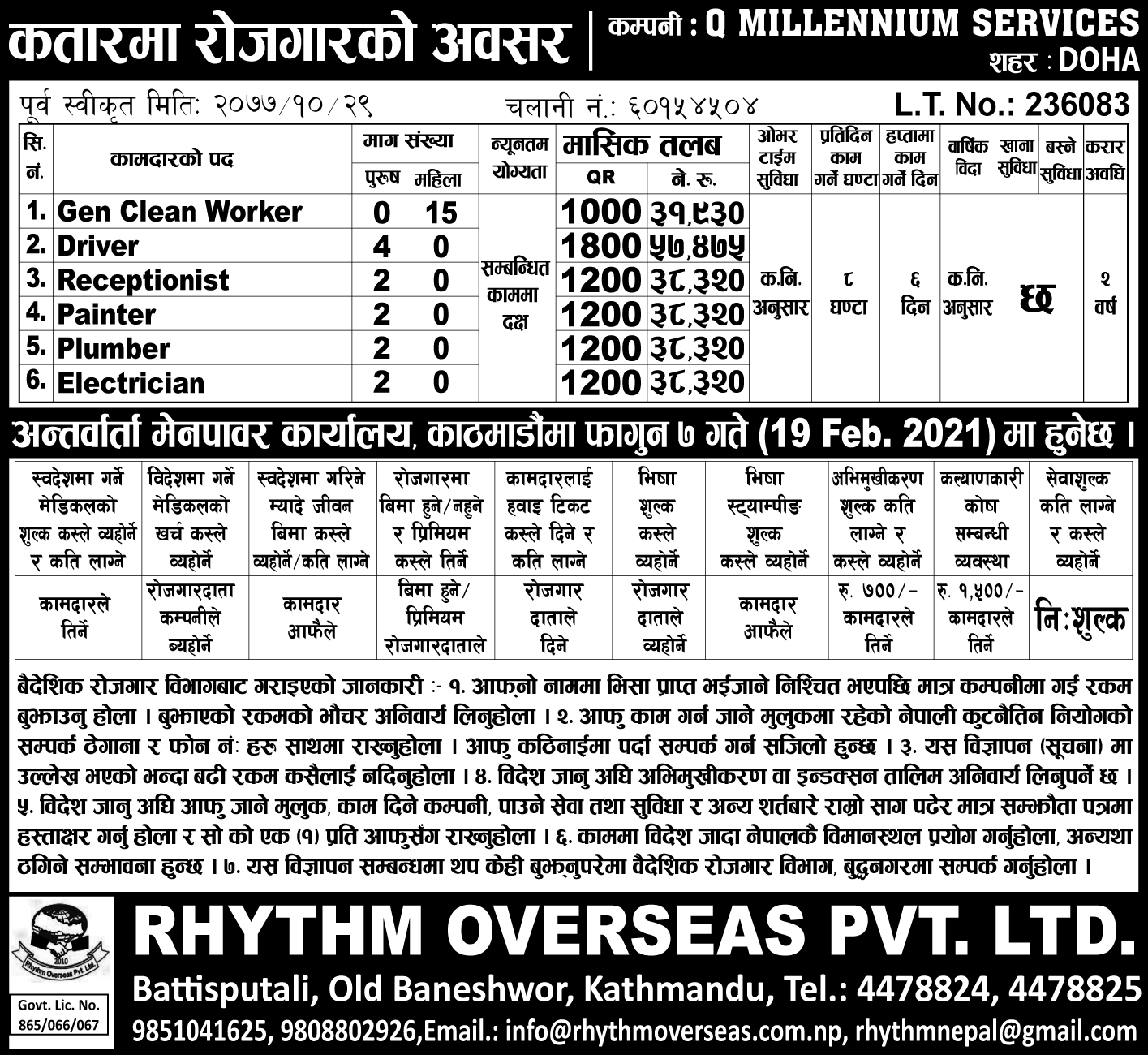 Qatar Job Demand In Nepal