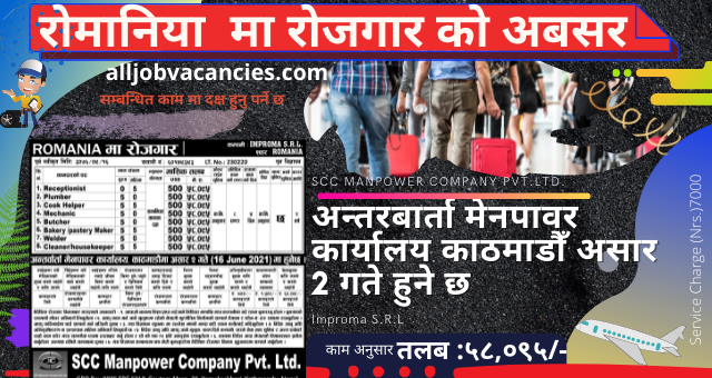 Romania Vacancy in Nepal  – Demand for 55 Nepali workers in Romania